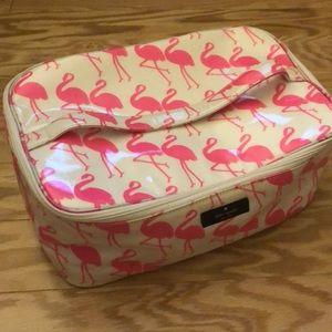 Kate Spade flamingo print cosmetic bag